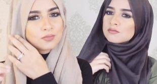 صورة احدث لفة طرحة , اجدد طرق لف الحجاب