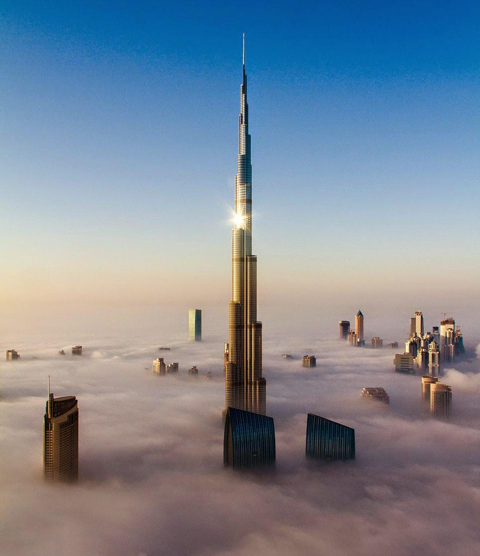 بالصور كم يبلغ طول برج خليفة , كم يبلغ ارتفاع برج خليفة 268 2