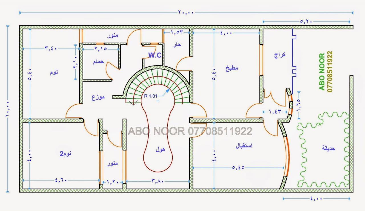 خريطة منزل 200 متر صور تصميمات خرائط بيوت مساحة 200 متر الحبيب