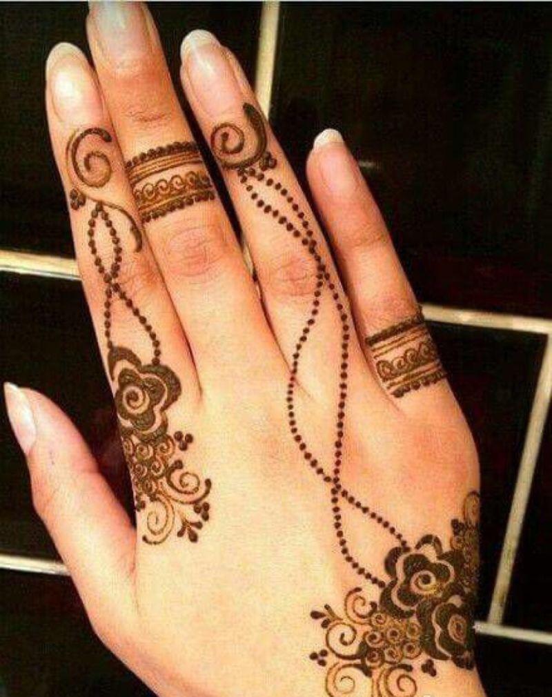 نقش حناء ناعم وخفيف رسومات رقيقة لتجملي بها يديكي الحبيب للحبيب