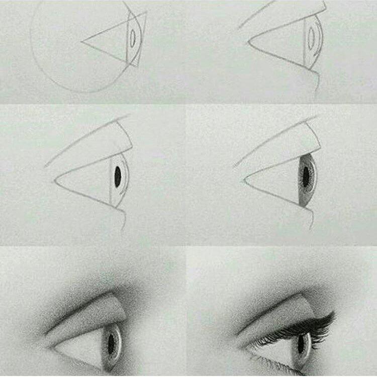 كيفية رسم العيون تعلمي فن الرسم باحتراف الحبيب للحبيب