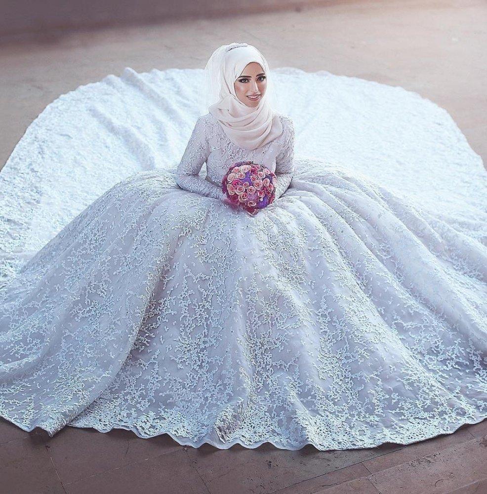 بالصور صور فساتين الزفاف للمحجبات , تصاميم كثيرة و لكى عزيزتى المحجبة ان تختارى 5639 10