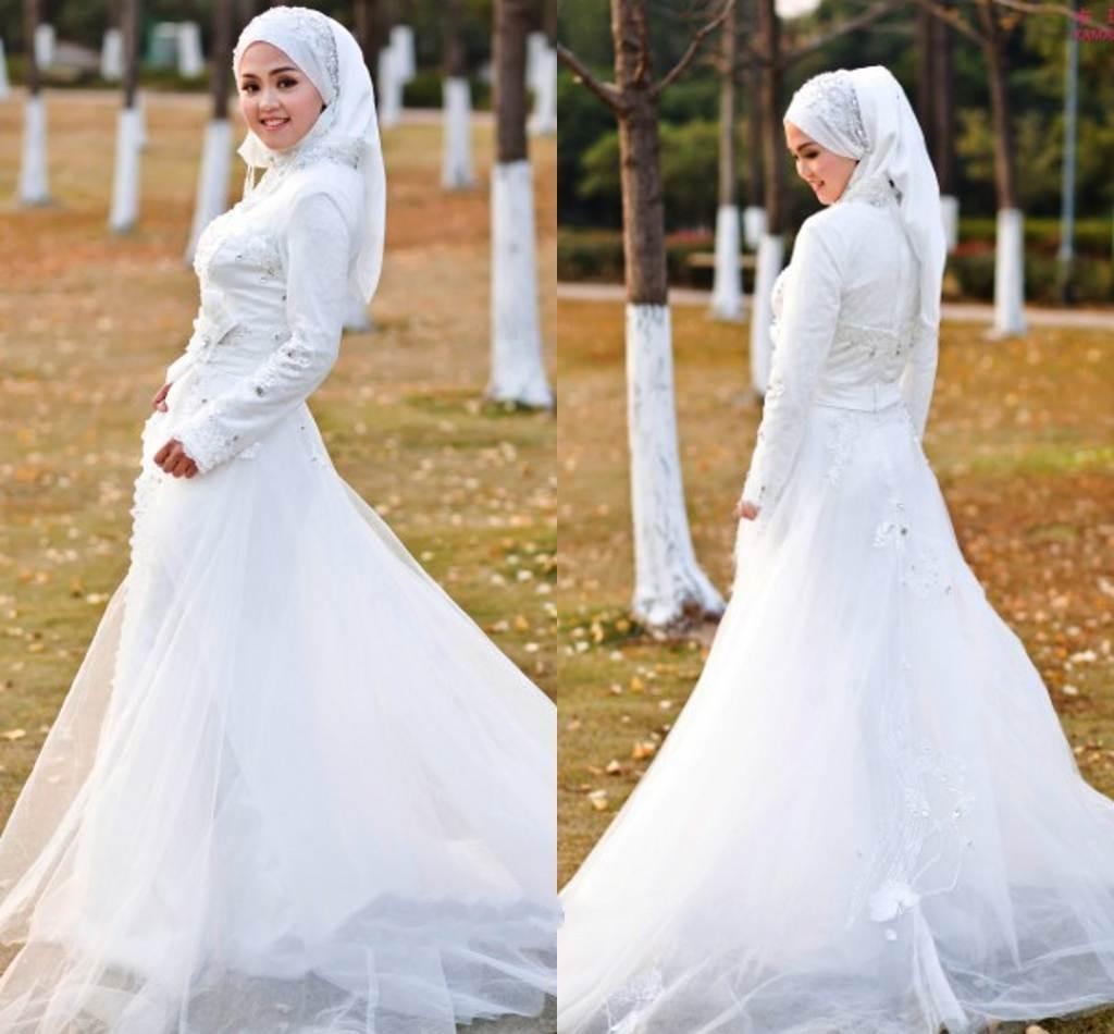 بالصور صور فساتين الزفاف للمحجبات , تصاميم كثيرة و لكى عزيزتى المحجبة ان تختارى 5639 11