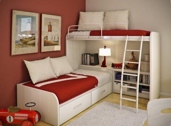 بالصور غرف نوم صغيرة المساحة للاطفال , اجمل واحلي غرف صغيرة للاطفال 596 6