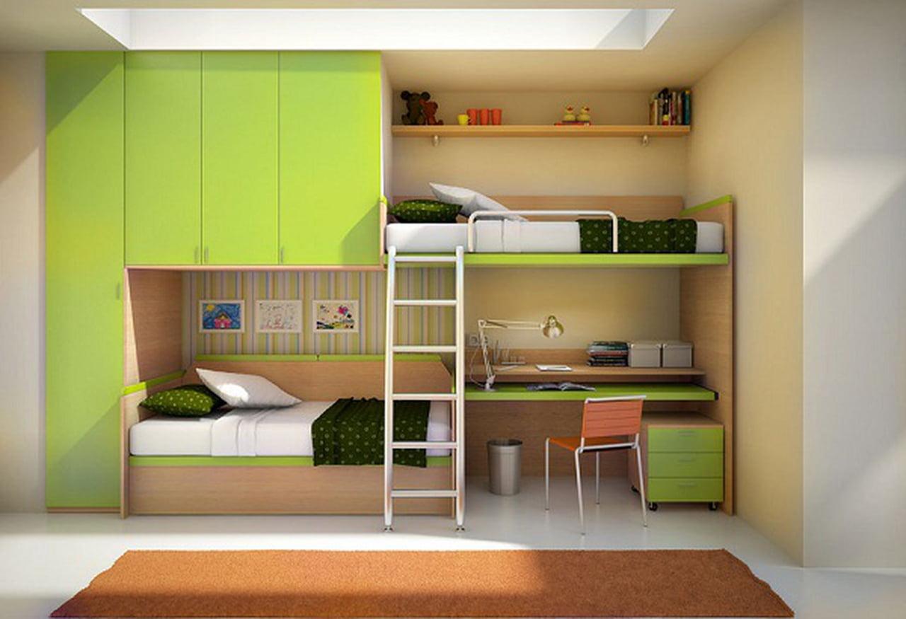 بالصور غرف نوم صغيرة المساحة للاطفال , اجمل واحلي غرف صغيرة للاطفال 596 9