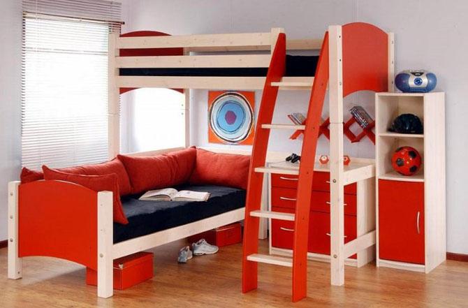 صورة غرف نوم صغيرة المساحة للاطفال , اجمل واحلي غرف صغيرة للاطفال