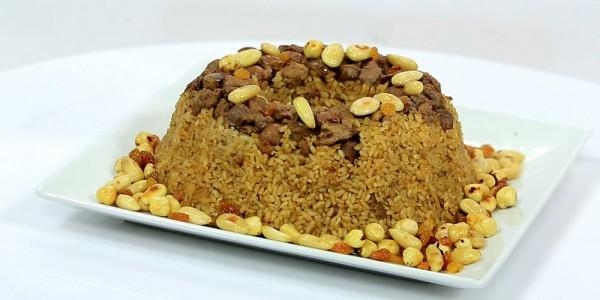 صورة طريقة عمل ارز بسمتى بالكبد والقوانص , طبق الارز البسمتي بطريقة سهلة