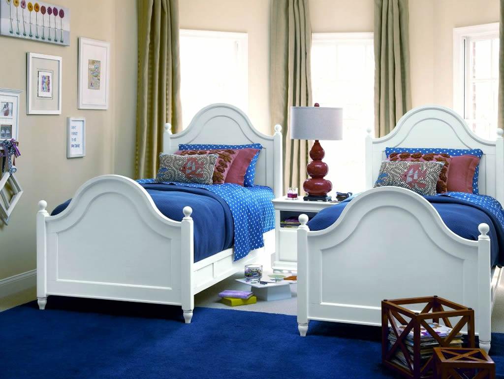 صورة غرف نوم اطفال بسريرين خشب , اختيار غرف اطفال مناسبة للتوام