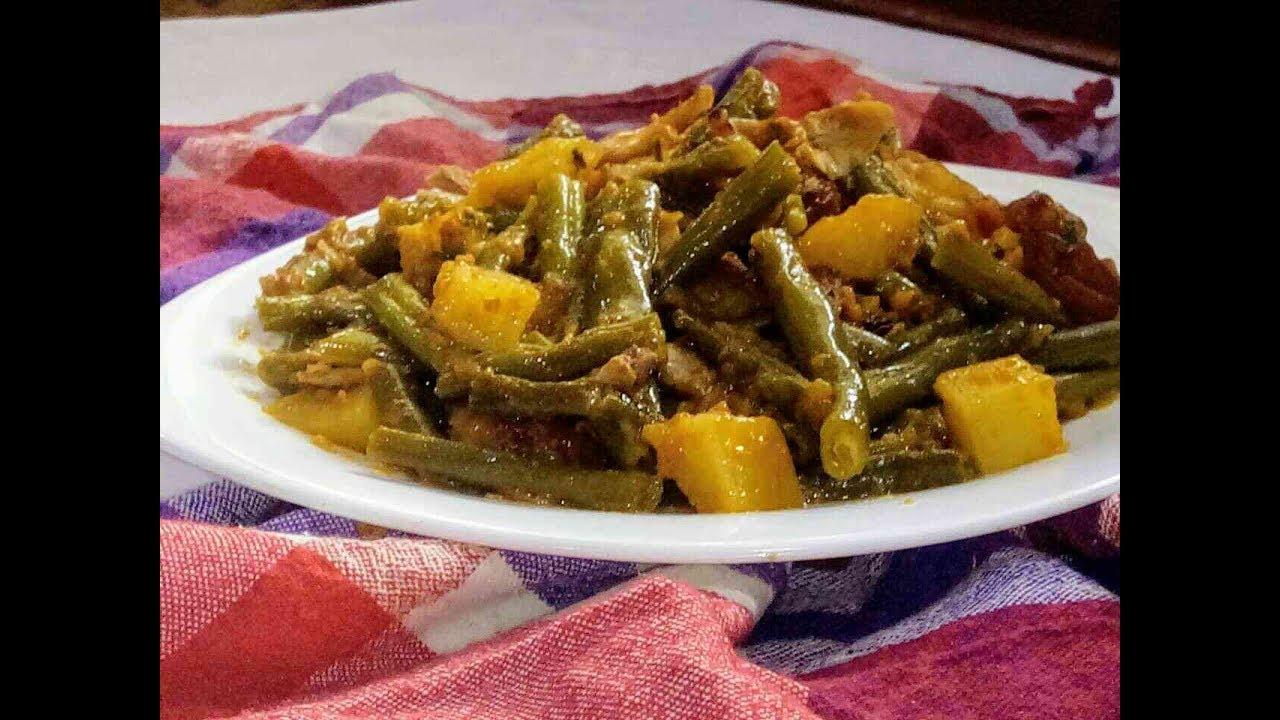صورة وصفات اللوبيا الخضراء , اللوبيا مع اللحمة و الطماطم و مع البطاطس ايضا