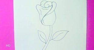 رسم وردة جميلة , هواية الرسم لمحبى الرسم