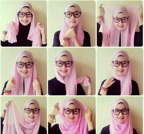 صور طريقة لف الحجاب التركي بنفسك بالصور , اسهل لفة للحجاب التركي