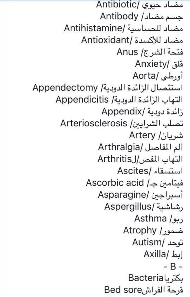 صور مصطلحات طبية مهمة , تعرف على المصطلحات الطبية