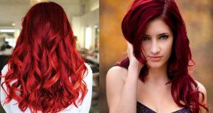 صور صبغ الشعر باللون الاحمر الغامق بالحناء , احلى لوان شعر اللوان الاحمر