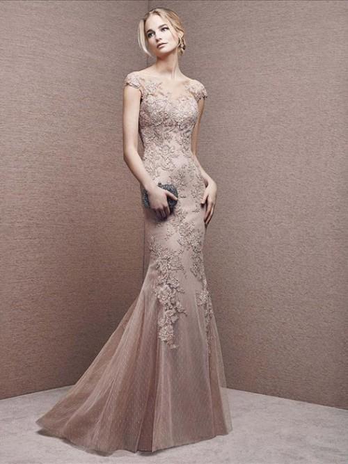 صورة قصات فساتين سهرة , اجمل و اشيك الفساتين الموضه في العالم