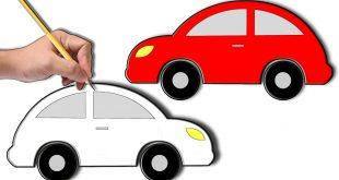 صورة كيف ترسم سيارة , طريقة رسم سيارة سهلة