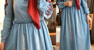 صورة ملابس عملية للمحجبات , اجمل فساتين محجبات عملية جدا