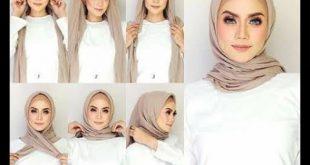صور لفات طرح تركى بالخطوات , اظهري جمال وجهك مع الحجاب