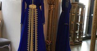 صور قفطان خفيف بلا حزام , موديلات لملابس مغربية بسيطة