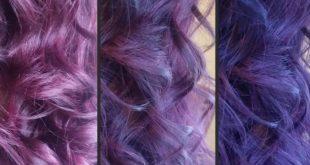 صور لون بنفسجي للشعر , ضبغ الشعر باللون البنفسجى