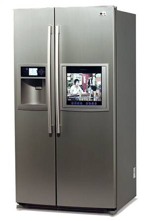صورة ثلاجة داخل دولاب المطبخ , كيفية وضع الثلاجة فى المطبخ