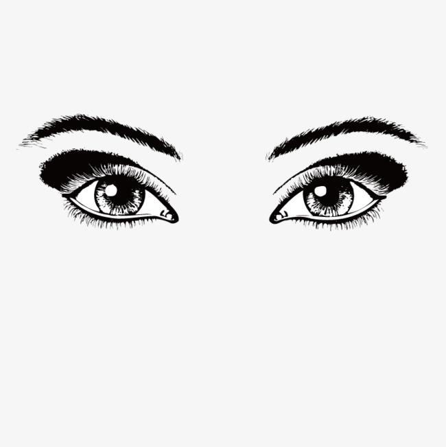 صورة هل يوجد عيون سوداء , حقيقة العيون السوداء