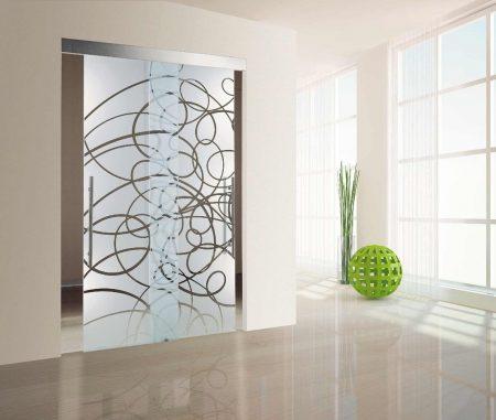 صور ديكورات زجاج سيكوريت , صور تصاميم ابواب زجاجية للمنازل