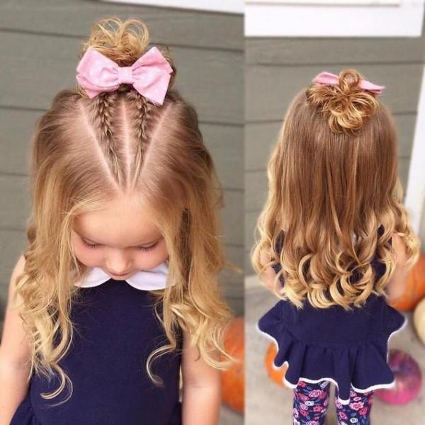 صورة ضفائر شعر اطفال , صور تسريحات شعر بالضفائر