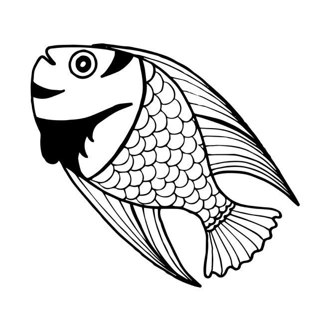 صورة سمكة كرتون