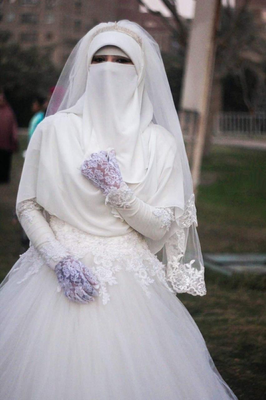 صورة اجمل صور عرايس , ياجمال النقاب الابيض ياعروسة