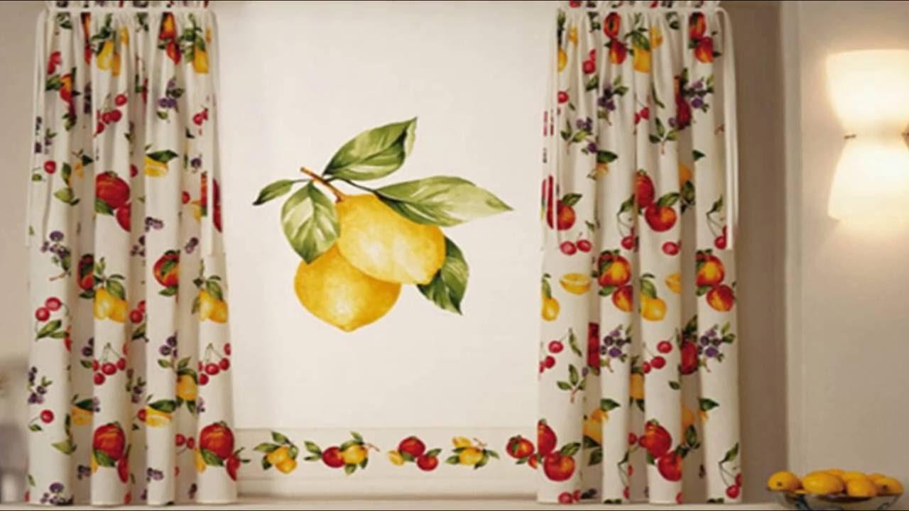 صور خياطة ستائر المطبخ بالصور , قصات والوان روعة لشباك المطبخ