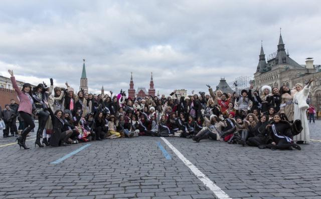 صور بالصور اجمل 86 فتاة في الكون دفعة واحدة بموسكو , ملكات الجمال في روسيا