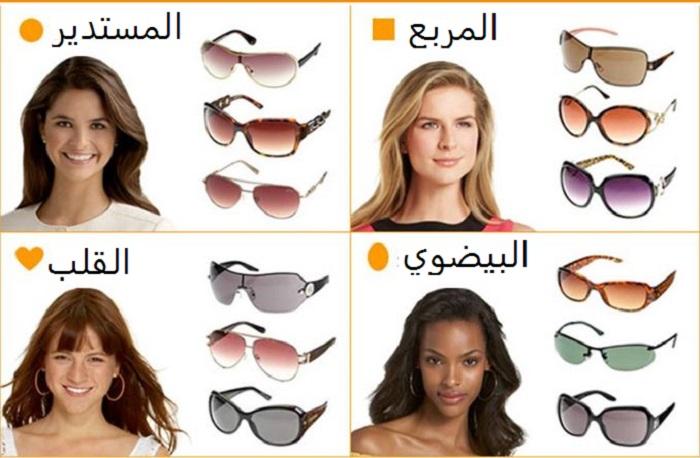 صورة نظارات شمسية حسب شكل الوجه بالصور , كيف اختار نظارتي الشمسية