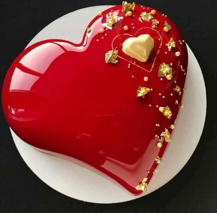 صورة صور تورتات اعياد ميلاد على شكل قلب , تورتة للفلانتين علي شكل قلب