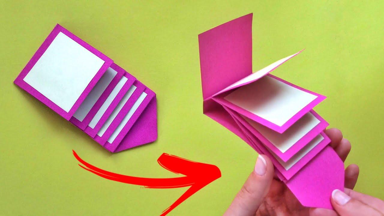 صورة طريقة عمل مطويات بالورق الملون بالصور , تعالوا نعرف نعملها