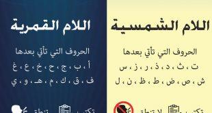 الحروف الشمسية والقمرية في بيت شعر , اعرف اهم قواعد اللغه العربيه