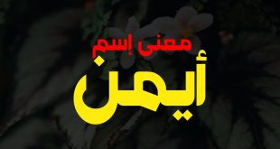 صورة معنى اسم ايمن في اللغة العربية,عايزه تسمى ايمن ما يكون معناه 7037 1 310x165